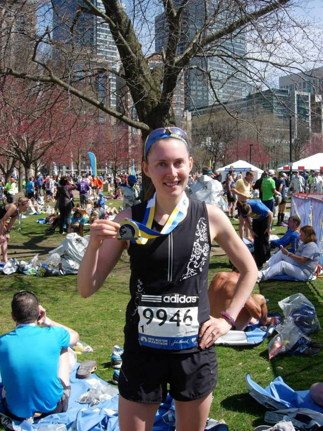 """. . such an amazing experience in Boston today. I've never been more proud to cross the finish line of a race.""  -Evelyn Young"