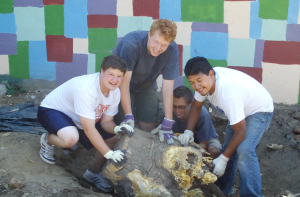 Members of our youth group working in Philadelphia.