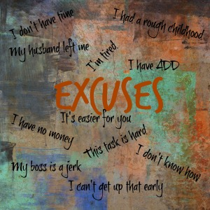 """Like my friend Andy says: """"Excuses are like armpits: We all have them and they stink!"""""""