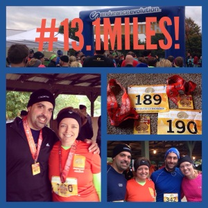 13.1 miles and we lived to tell about it!