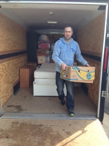 Our friend, and the kids' youth pastor, Bruce Banwell gave a full day (plus!) to help us load and unload boxes on moving day.