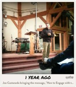 Picture from my friend Tom's FB page. A one-year flashback courtesy of Time Hop.