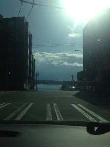 Views from the road. This one is from the beautiful downtown of Seattle.