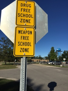 Drugs and guns are still entering our schools. Apparently clever campaigns, more education or strongly worded signs aren't deterrents in our world.